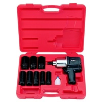 "10pc 3/4"" Drive Impact Wrench And Deep Socket Set"