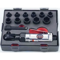 "13pc 3/8"" Drive Impact Wrench And Socket Set (Metric)"
