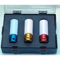 3pc Wheel Nut Impact Socket (Colored)