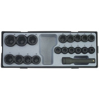 "19pc 1/2"" Drive  Impact Socket Set (Metric)"