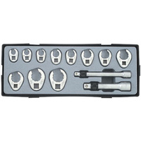 "13pc 3/8"" Drive & 1/2"" Drive Crowfoot Flare Nut Wrench Set (SAE)"